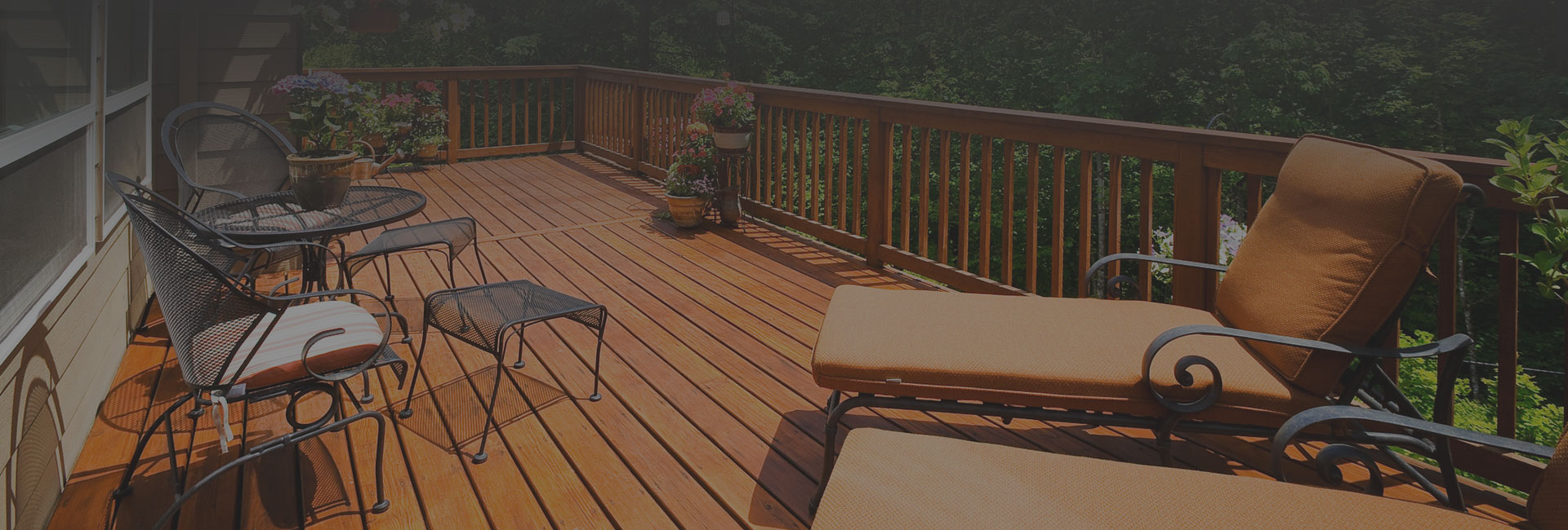 finished deck with outdoor furniture